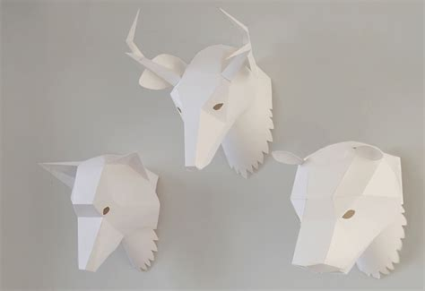 paper mask animal paper mask designed by soroche lab twentytwentyone