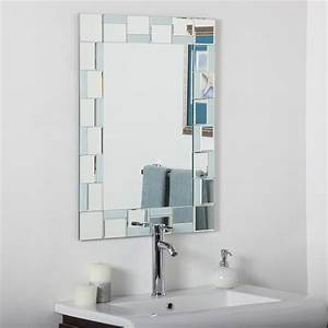 Decor wonderland ssm310710 quebec modern bathroom mirror for Bathroom morrors