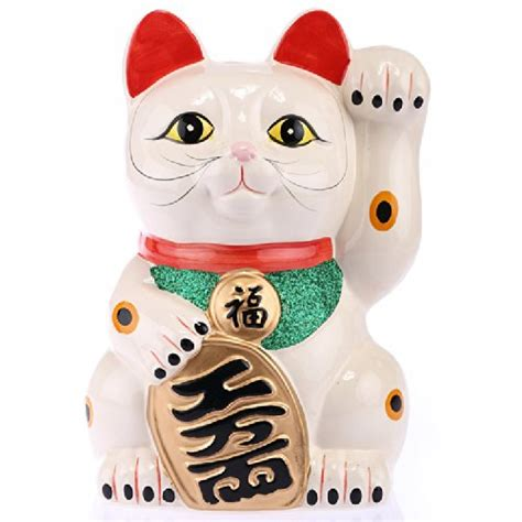 la maneki neko chat porte bonheur chinois