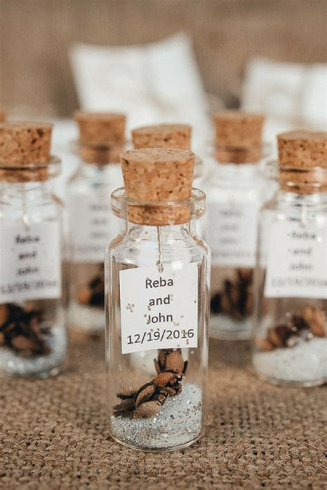 wedding favors  guests message   bottle rustic wedding