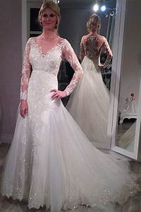 sheer scoop long sleeve wedding dress sparkly lace court With sparkly wedding dresses with sleeves