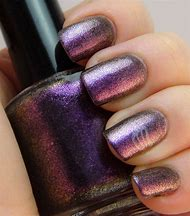 Pink Purple Gold Nails