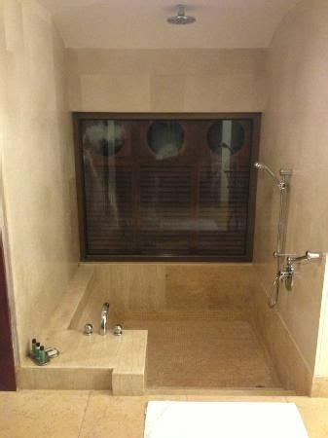 sunken bath tub  rain shower  images sunken