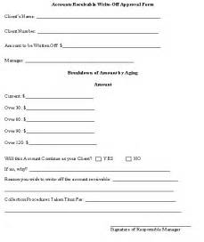 Accounts Receivable Write Off Form Template
