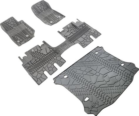 jeep jk floor mats mopar mopar 174 floor liner slush mat with tire tread pattern kit