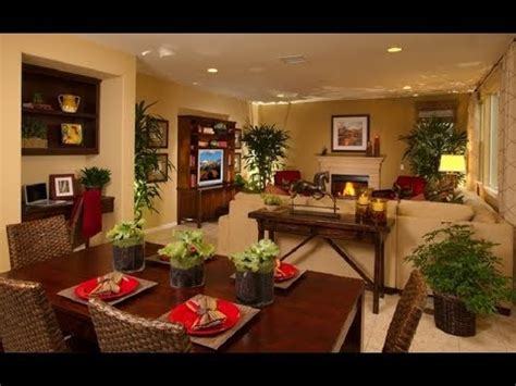 Living Room Dining Room Combo Decorating Ideas 2018 Youtube