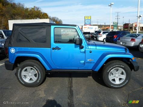 hydro blue jeep hydro blue pearl coat 2014 jeep wrangler freedom edition
