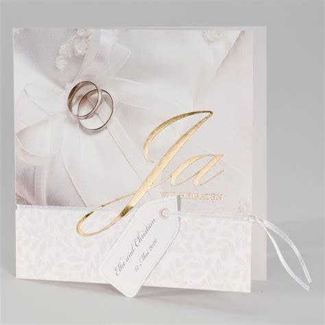 guenstige hochzeitskarte mit schriftzug ja wir heiraten