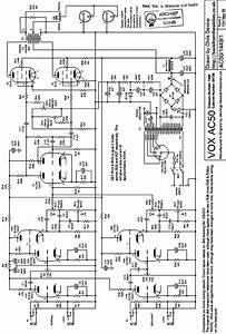 Vox Ac50 2xel34 Audio Amplifier Sch Service Manual