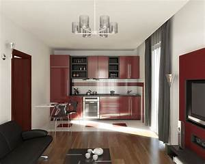 Small Apartment Living Room Ideas Small Open Plan Kitchen
