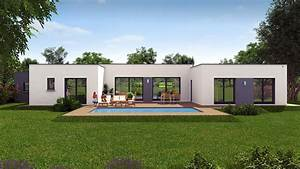 beautiful maison cubique moderne plain pied ideas With attractive plan de maison cubique 15 maison plein pied moderne mc immo
