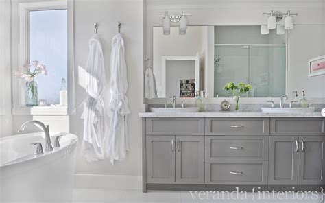 warm gray bathroom vanity veranda interiors master