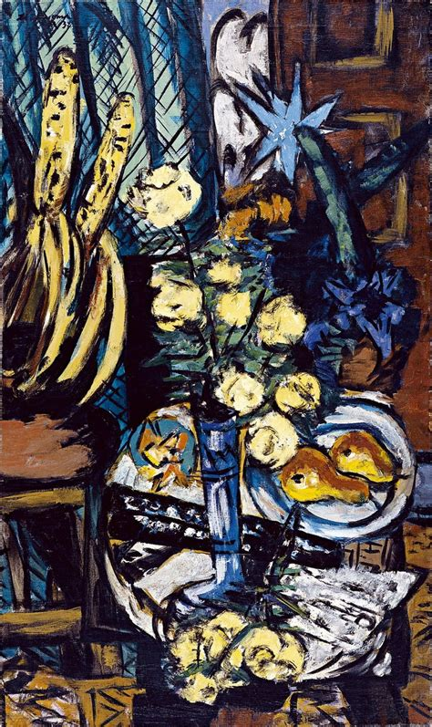 max beckmann  life  yellow roses  style