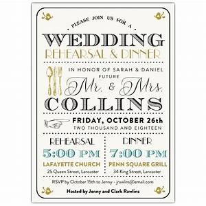 typography mix rehearsal dinner invitations paperstyle With examples of wedding rehearsal invitations
