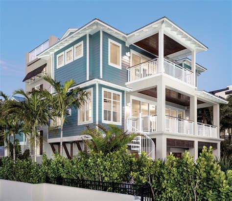 Beachfront Home Casual Style by Coastal Craftsman A Casual Retreat Home Design
