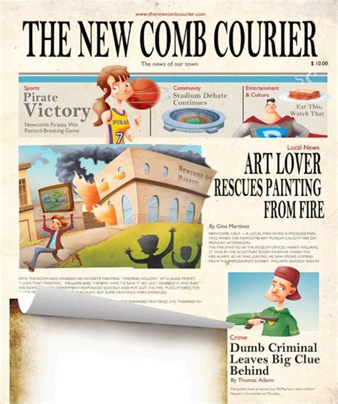 The most voted sentence example for newspaper is i got interviewed for a newspa. Kids Newspaper Template - 11+ Free PSD, Indesign, EPS ...