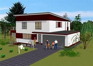 Haus Mit Integrierter Garage : pultdachhaus in massivbauweise bauen gse haus ~ Frokenaadalensverden.com Haus und Dekorationen