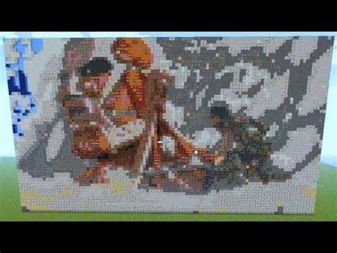 attack  titan minecraft pixel art  shingeki