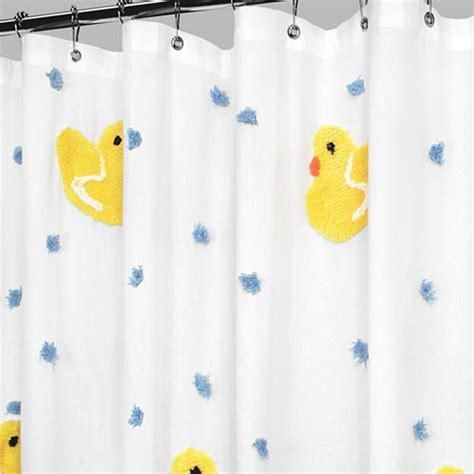 park b smith ducky ducky fabric shower curtain