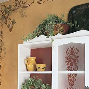 stencils palazzo grape fruit stencil set royal design With what kind of paint to use on kitchen cabinets for letter stencils for wall art