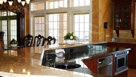 kitchens with two different colored countertops granite kitchen countertops 1 1 the kitchen designer 9635