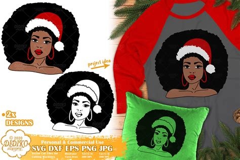The formats are svg, png with a transparent background, eps, and dxf. Christmas Black Woman SVG #1 | African American Svg ...