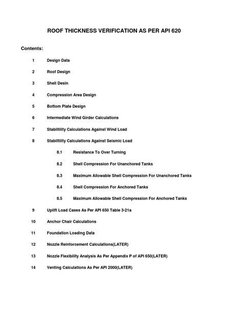 Calculation API 650 | Presión | Libras por pulgada cuadrada