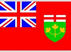 Fahne Ontario, Flagge Ontario, Fahnen Ontario, Flaggen