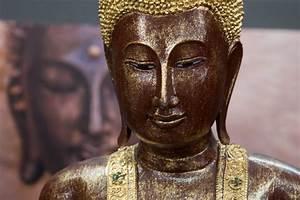 Buddha Figur Groß : buddha statue stehend gro 200cm holz rot gold figur ~ Michelbontemps.com Haus und Dekorationen