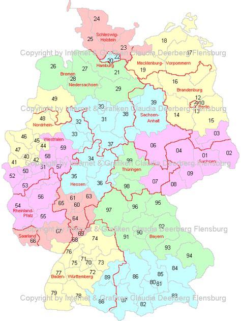 Plz Karte Süddeutschland
