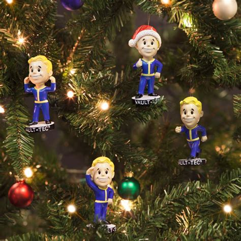 fallout xmas   vault boy tree decorations
