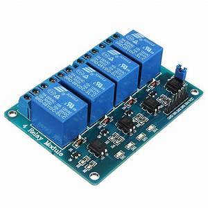 Geekcreit U00ae 5v 4 Channel Relay Module For Arduino Pic Arm