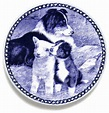 Border Collie Lekven Design Dog Plate 19.5 cm / 7.61 ...