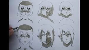 How To Draw Manga: Shading Manga Faces Three Different ...