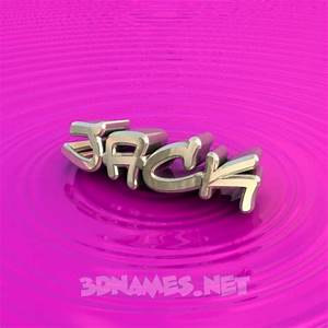 29 3D Name wallpaper images for the name of 'Jack'