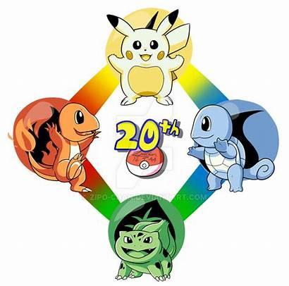 Pokemon Anniversary 20th Drawing Drawings Games Zipo
