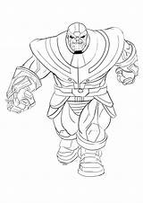 Thanos Coloring Pages Printable Toddler Supervillain Lego Super Children sketch template