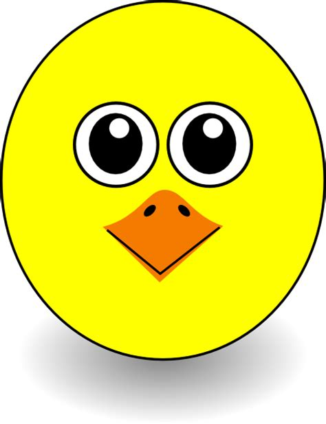 funny chick face cartoon clip art  clkercom vector
