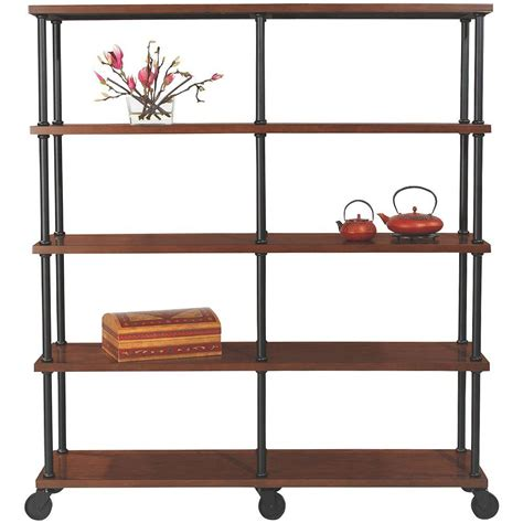 Black Bookcase by Home Decorators Collection Industrial Mansard Black Open