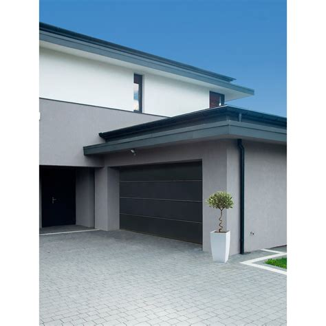 porte de garage sectionnelle motoris 233 e artens premium h 212 x l 300 cm leroy merlin