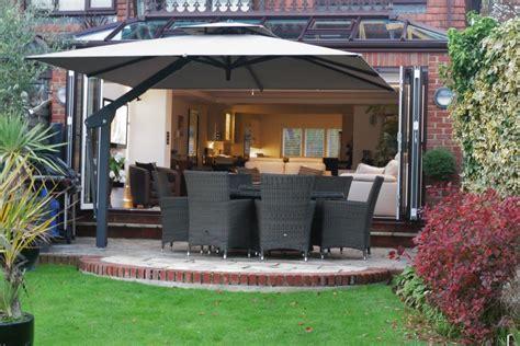 large cantilever patio umbrellas uk 9 tips for choosing a large garden parasol umbrellas