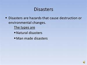 causes of natural disaster essay