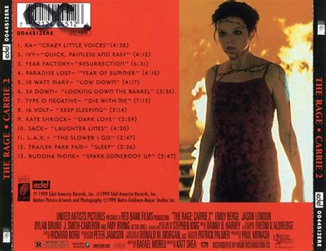 carrie  soundtrack  cd sniper reference