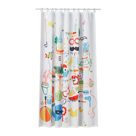 ikea shower curtains ikea badb 196 ck fabric shower curtain multicolor