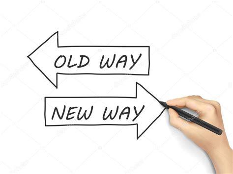 Old Way Or New Way — Stock Vector © Kchungtw #64276361