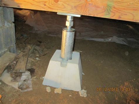 floor joist support jacks adjustable basement support jacks pictures to pin on