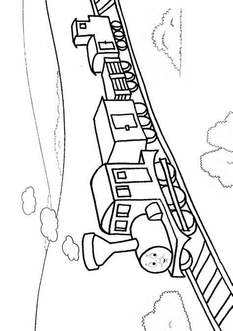 Train Track Coloring Page - Eskayalitim