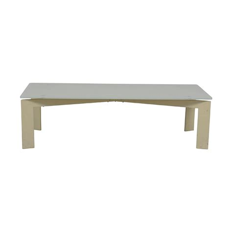Spend this time at home to refresh your home decor style! 65% OFF - IKEA IKEA White Glass Coffee Table / Tables