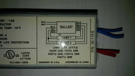 How Wire Replacement Ballast With Different Wiring