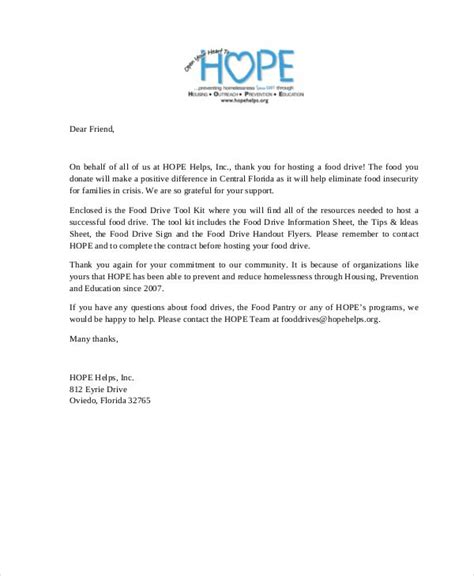 letters  donations template